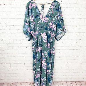 Jessica Simpson Dresses - Jessica Simpson Maternity Green Floral Maxi Dress